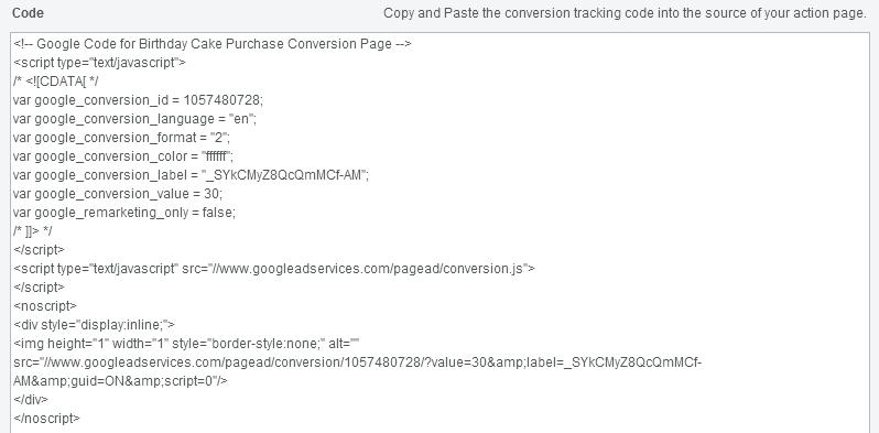 google-adwords-code-conversion