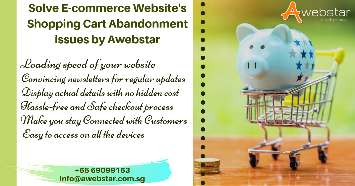 Awebstar shopping cart abandonment ecommerce website